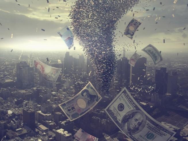 Thiệt hại kinh tế toàn cầu của dịch COVID-19 có thể lên tới 400-1.100 tỉ USD. Ảnh: RT