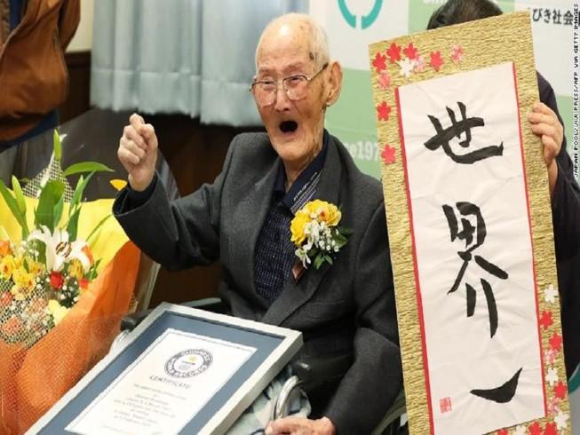 Cụ ông cao tuổi nhất thế giới vừa qua đời ở tuổi 112. Ảnh: CNN