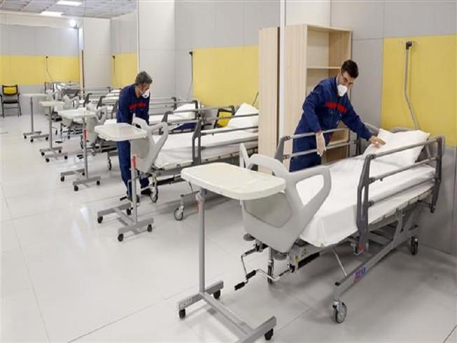 Iran đã thành lập một bệnh viên tại một trung tâm thương mại ở thủ đô Tehran ngày 21-3. Ảnh: PRESS TV