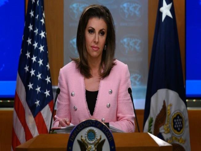 Người phát ngôn Bộ Ngoại giao Mỹ Morgan Ortagus. Ảnh: AFP