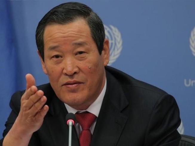 Đại sứ Triều Tiên tại LHQ Kim Song. Ảnh: REUTERS