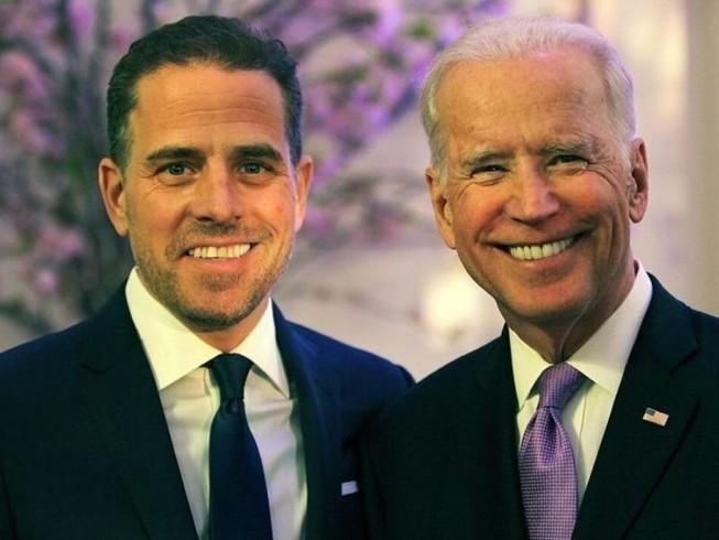 Cựu Phó Tổng thống Mỹ Joe Biden và con trai Hunter Biden. Ảnh: FOX NEWS
