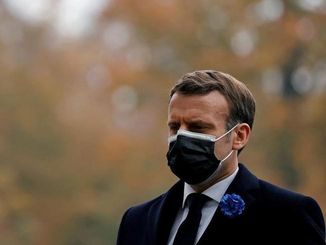 Tổng thống Pháp Emmanuel Macron tại lễ kỷ niệm ngày dấu sự kết thúc của Chiến tranh thế giới thứ nhất tại Paris, ngày 11-11.