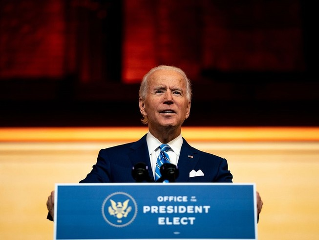 Ông Joe Biden - người được coi là tổng thống tân cử của Mỹ. Ảnh: THE NEW YORK TIMES