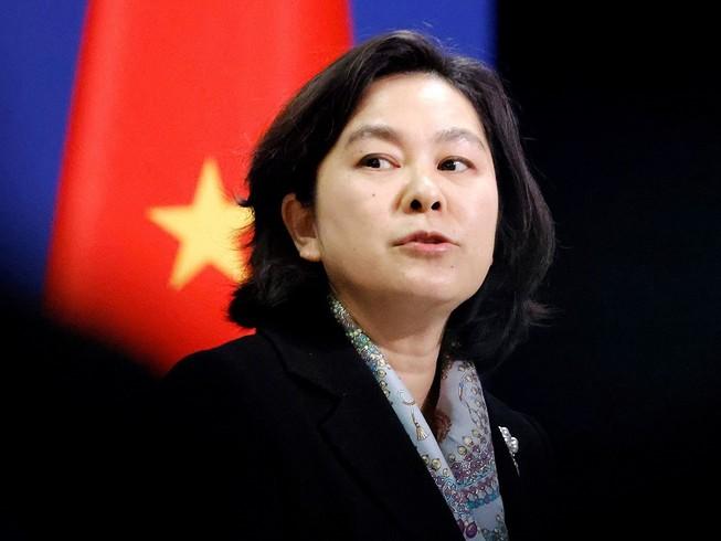 Người phát ngôn Bộ Ngoại giao Trung Quốc Hoa Xuân Doanh. Ảnh: REUTERS