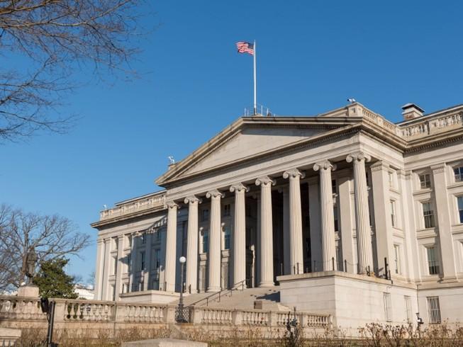 Trụ sở Bộ Tài chính Mỹ ở thủ đô Washington DC, Mỹ (Ảnh chụp vào tháng 11-2018). Ảnh: REUTERS