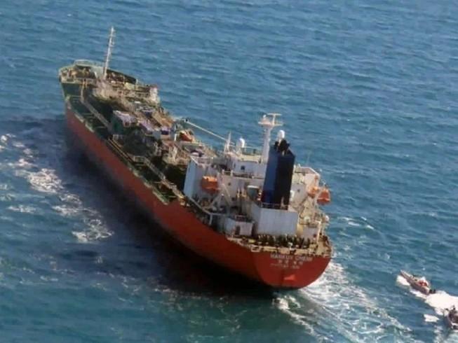 Tàu chở dầu mang quốc kỳ Hàn Quốc bị Lực lượng Vệ binh Cách mạng Hồi giáo Iran bắt giữ tại Vịnh Ba Tư.