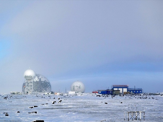 Căn cứ quân sự của Nga tại đảo Wrangel trên biển Chukchi. Ảnh: RT