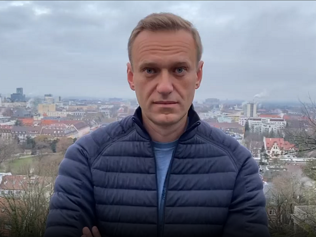 Ông Alexei Navalny chia sẻ kế hoạch về nước trong đoạn video được đăng trên Instagram vào trưa 13-1. Ảnh chụp màn hình INSTAGRAM