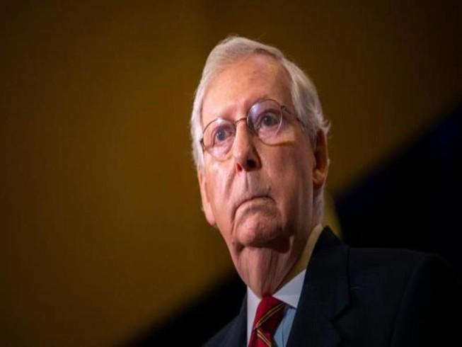 Lãnh đạo phe thiểu số Cộng hòa Thượng viện Mitch McConnell. Ảnh: GETTY IMAGES