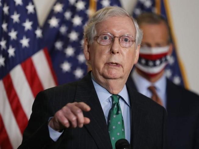 Lãnh đạo phe thiểu số Cộng hòa tại Thượng viện Mitch McConnell. Ảnh: REUTERS