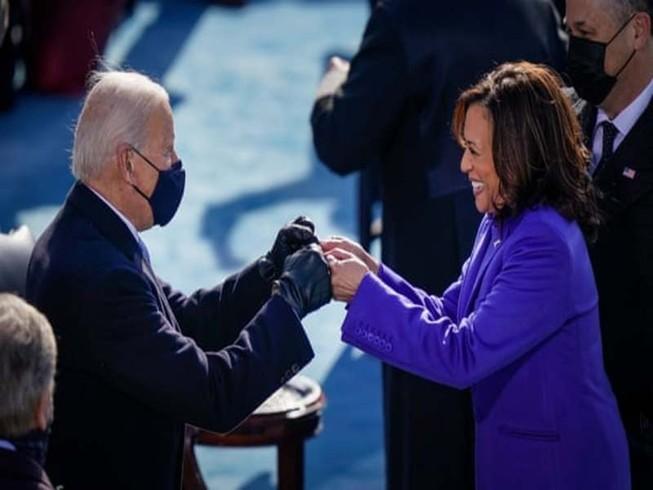 Tổng thống Joe Biden và Phó Tổng thống Kamala Harris. Ảnh: Drew Angerer/GETTY IMAGES.
