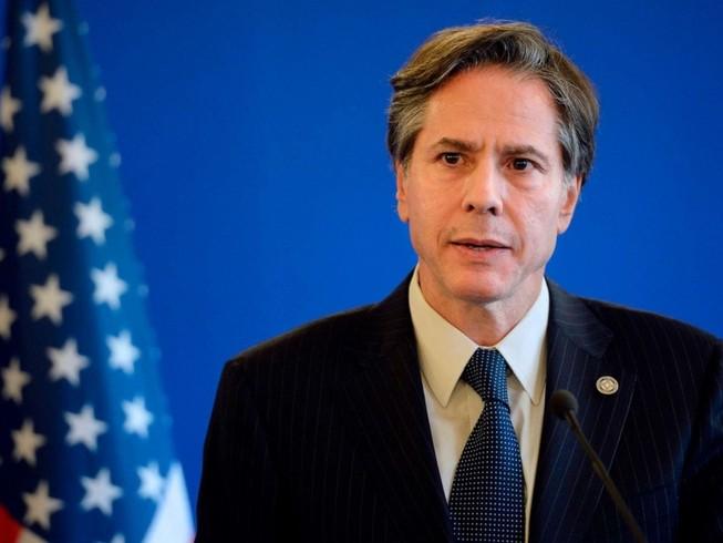 Ông Antony Blinken trong một cuộc họp báo ở Bộ Ngoại giao Mỹ hồi tháng 6-2014. Ảnh: AP