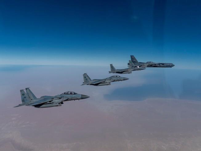 Máy bay ném bom chiến lược B-52. Ảnh: CENTCOM.
