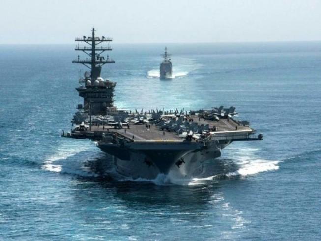 Tàu sân bay USS Nimitz của Mỹ. Ảnh: AFP