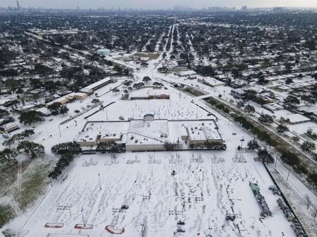 Cảnh giá rét kỷ lục tại bang Texas, Mỹ. Ảnh: CTV NEWS