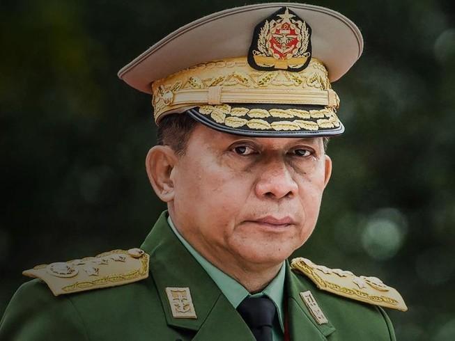Tổng Tư lệnh quân đội Myanmar Min Aung Hlaing. Ảnh: AFP