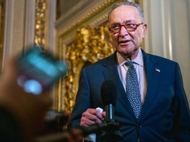 Lãnh đạo phe đa số Thượng viện Mỹ Chuck Schumer. Ảnh: REUTERS