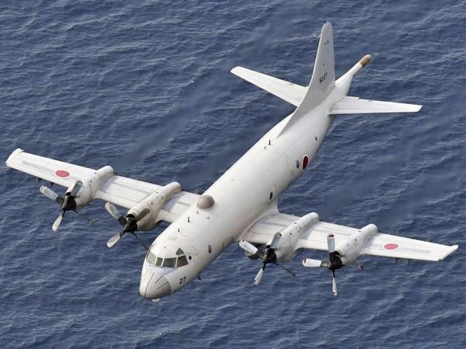 Máy bay tuần tra P-3C của Nhật. Ảnh: KYODO NEWS