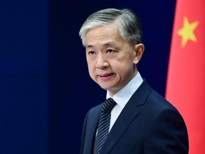 Phát ngôn viên Bộ Ngoại giao Trung Quốc Vương Văn Bân. Ảnh: THE PRINT