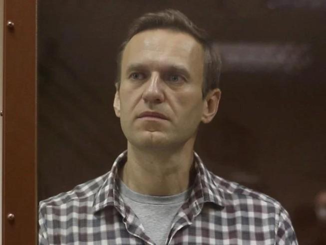 Nhân vật đối lập Nga Alexei Navalny tại phiên tòa ở Moscow hôm 20-2.