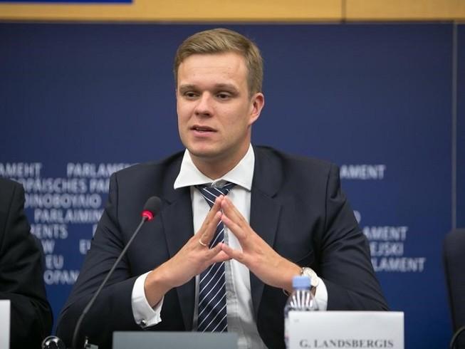 Ngoại trưởng Lithuania Gabrielius Landsbergis. Ảnh: CNA