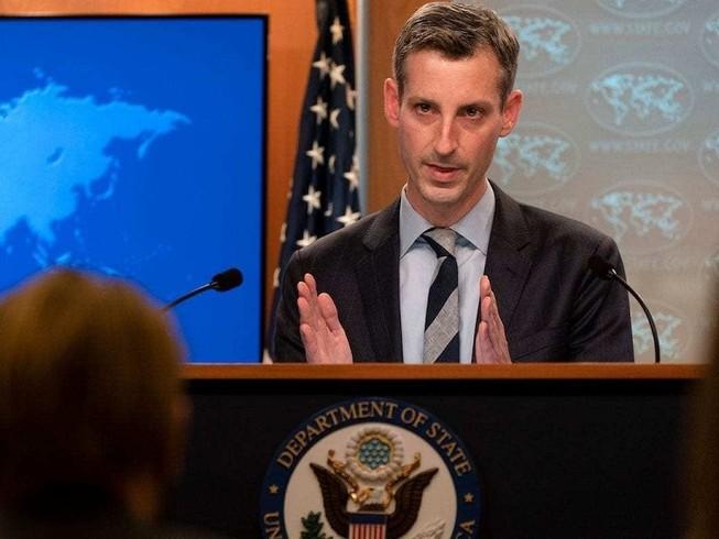 Người phát ngôn Bộ Ngoại giao Mỹ Ned Price. Ảnh: AFP