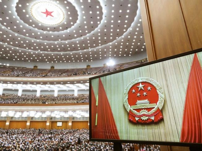 Kỳ họp Quốc hội Trung Quốc tại Đại lễ đường nhân dân ở Bắc Kinh. Ảnh: XINHUA / SCMP