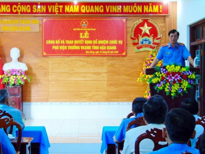 VKS tỉnh Hậu Giang có tân phó viện trưởng