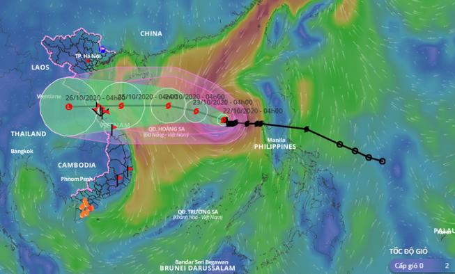 Bão số 8 giật cấp 13 cách quần đảo Hoàng Sa 470km