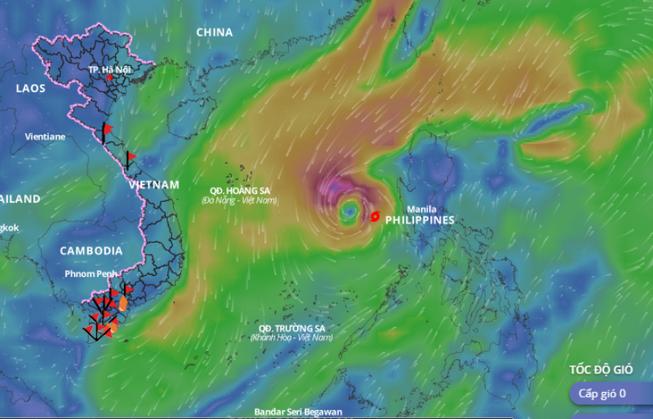 Siêu bão Goni giảm tới 9 cấp