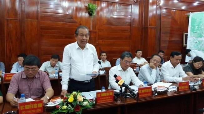 Phó Thủ tướng Trương Hòa Bình làm việc với Bình Phước