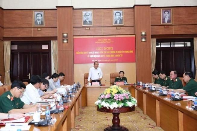 Công bố quyết định kiểm tra Ban Thường vụ Quân ủy Trung ương
