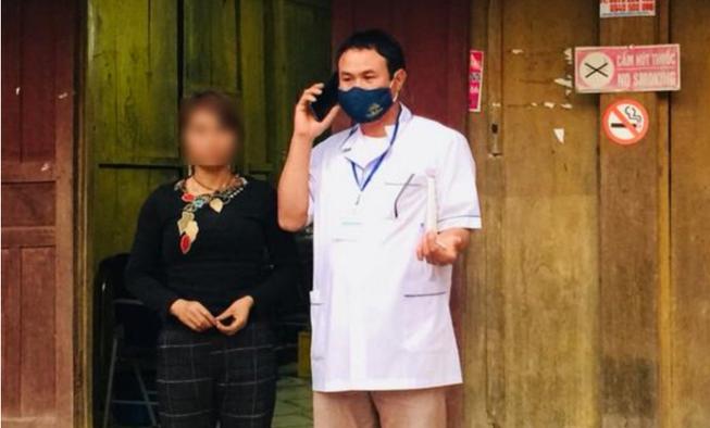 Hỗ trợ tiền, đưa một phụ nữ ở Nghệ An đi khám Corona