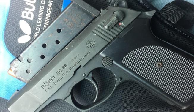 Khẩu súng công an thu giữ.