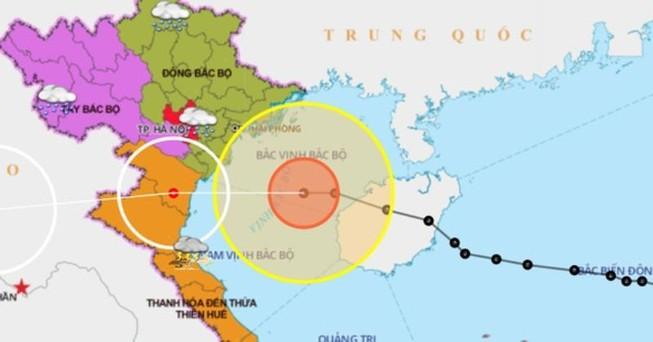 Bão số 7 sắp vào các tỉnh từ Quảng Ninh đến Nghệ An