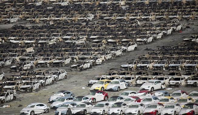 'Choáng' về số xe bị hư hỏng sau vụ nổ Thiên Tân