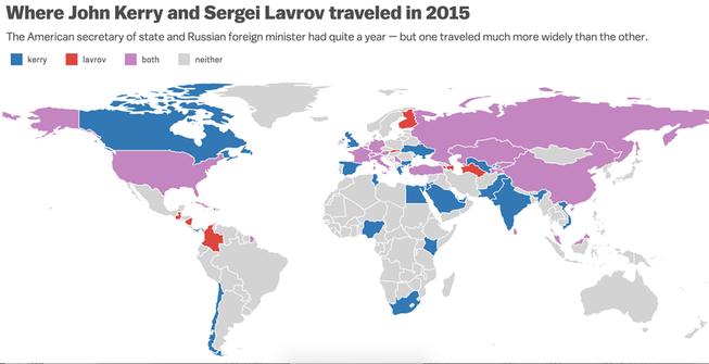Nhìn lại cuộc 'chạy đua ngoại giao' của Mỹ và Nga năm 2015