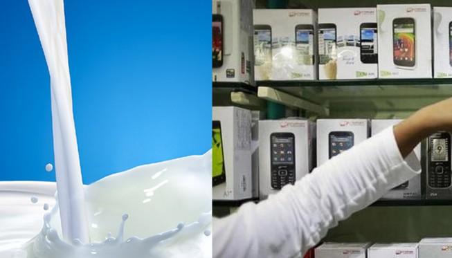 Cấm nhập sữa, điện thoại từ Trung Quốc vì chất lượng quá kém