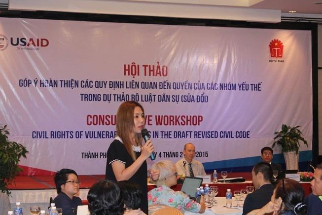 Tổ chức hội thảo góp ý về quyền của Nhóm yếu thế