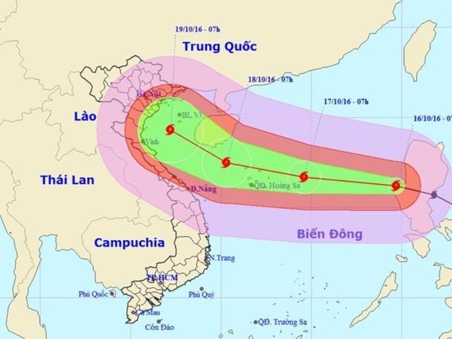 Bão Sarika vào biển Đông: Cấp độ rủi ro thiên tai cấp 3