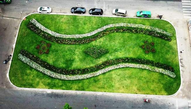 Biến bãi xe bỏ hoang thành vườn hoa xanh ngát