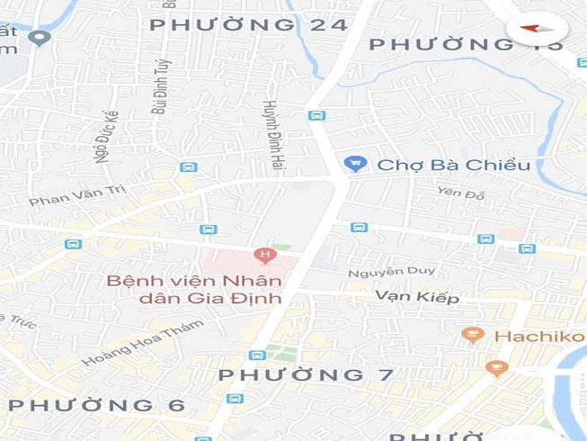 Phân luồng tại đường Nơ Trang Long để sửa chữa cầu