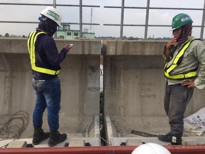 Vụ rơi gối cao su ở metro 1: Vật liệu không đúng quy định
