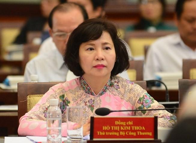 Bà Hồ Thị Kim Thoa, nguyên Thứ trưởng Bộ Công Thương, hiệm đang nắm giữ nhiều cổ phần của Công ty Điện Quang