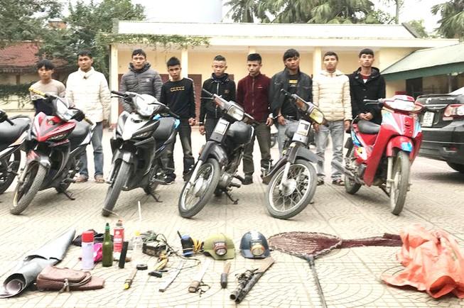 Bắt giữ nhóm cướp, trộm cắp tài sản nguy hiểm ở Thanh Hóa