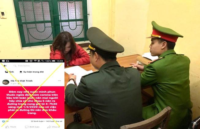 Xử lý cô gái phao tin 'phun thuốc toàn quốc' trên Facebook