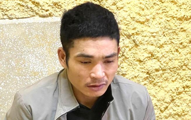 'Siêu trộm' Nguyễn Văn Cừ tại cơ quan công an. Ảnh: CA