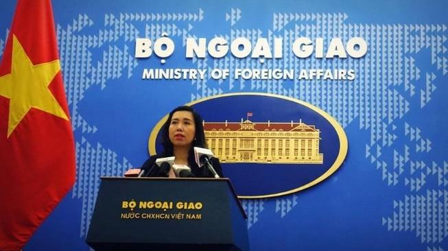 Việt Nam lên tiếng về việc Trung Quốc tập trận ở biển Đông