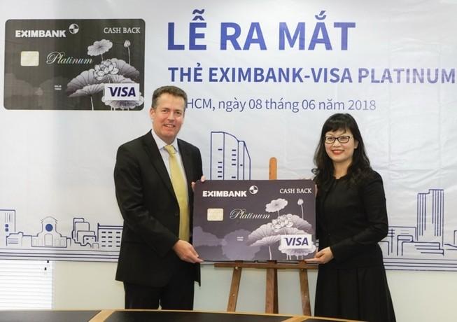 Eximbank ra mắt thẻ tín dụng quốc tế Visa Platinum Cash Back